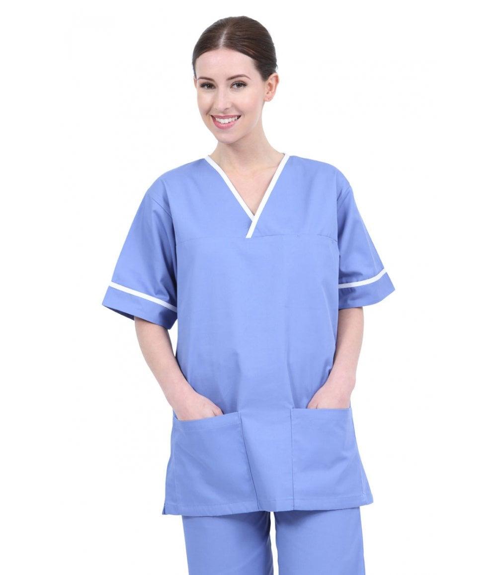 Behrens Unisex Healthcare Scrub Tunic with Trim