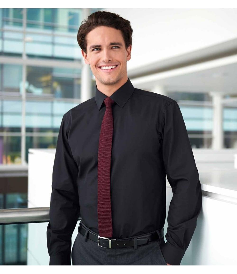 Brook Taverner Mens Pisa Long Sleeve Slim Fit Shirt