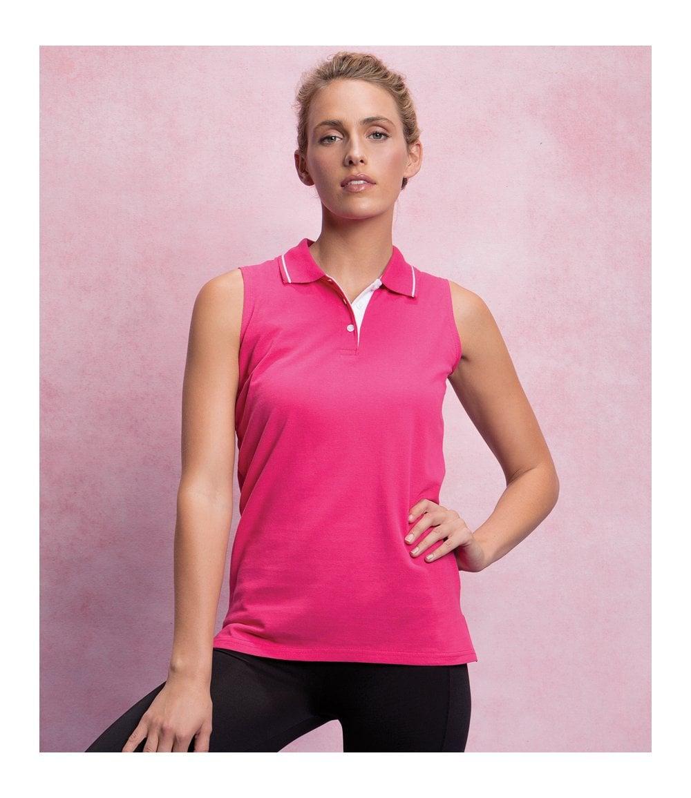 ea7e5b41 Gamegear® Ladies Proactive Sleeveless Cotton Pique Polo Shirt - K730 ...