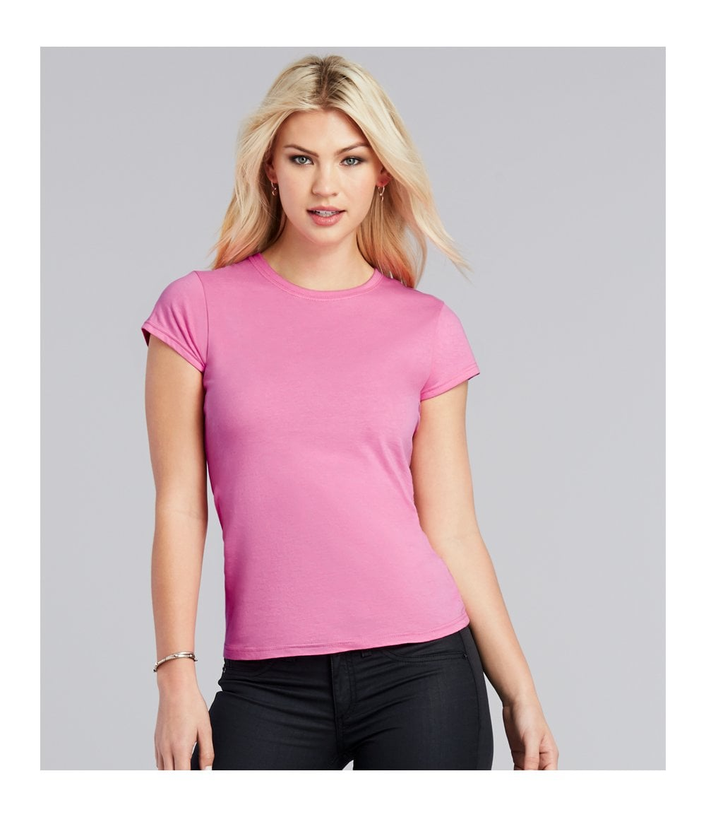 Ringspun T Shirt >> Gildan Softstyle Ladies Fitted Ringspun T Shirt Gd72 Pcl