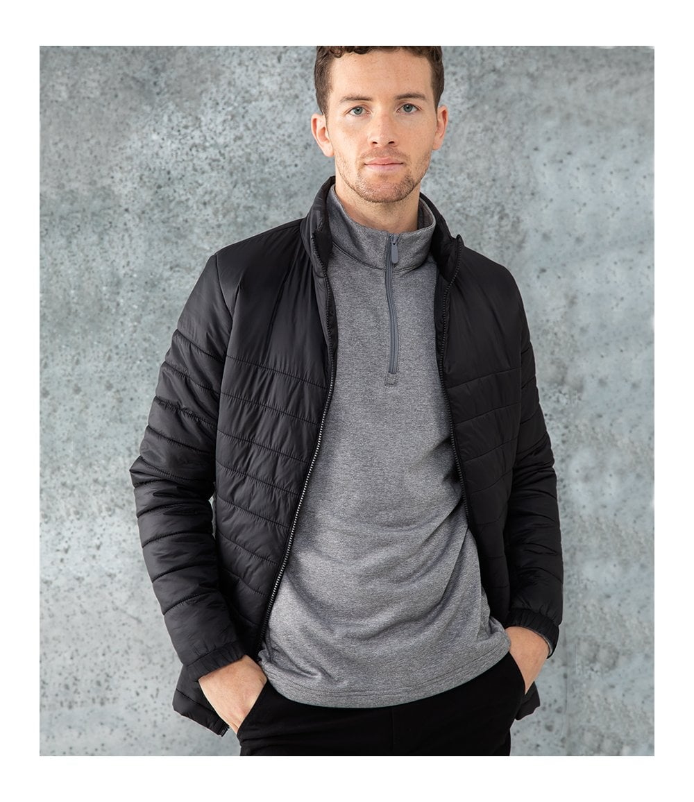 Mens - High Shine Padded Jacket in Mid Pine | Superdry