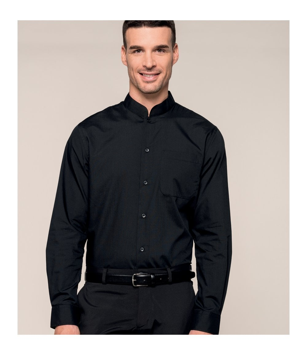 8d9e504bc48 Kariban Long Sleeve Mandarin Collar Shirt - KB515 - PCL ...