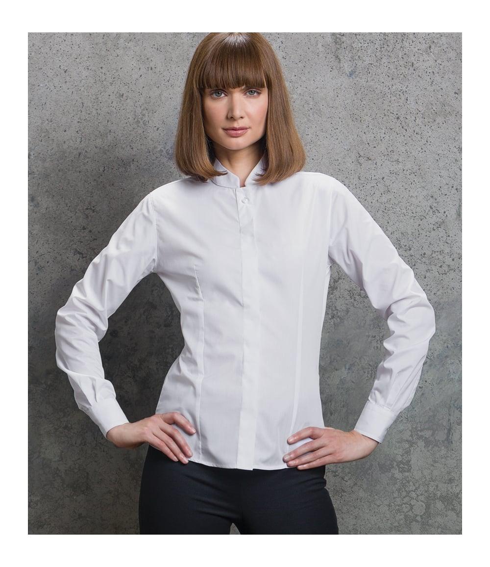 0cdc9b7e1c74 Kustom Kit Ladies Long Sleeve Mandarin Collar Shirt - K261 - PCL ...
