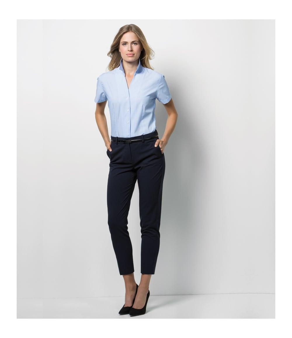70ffab61566fa9 Kustom Kit Ladies Pinstripe Short Sleeve Shirt - K713 - PCL ...
