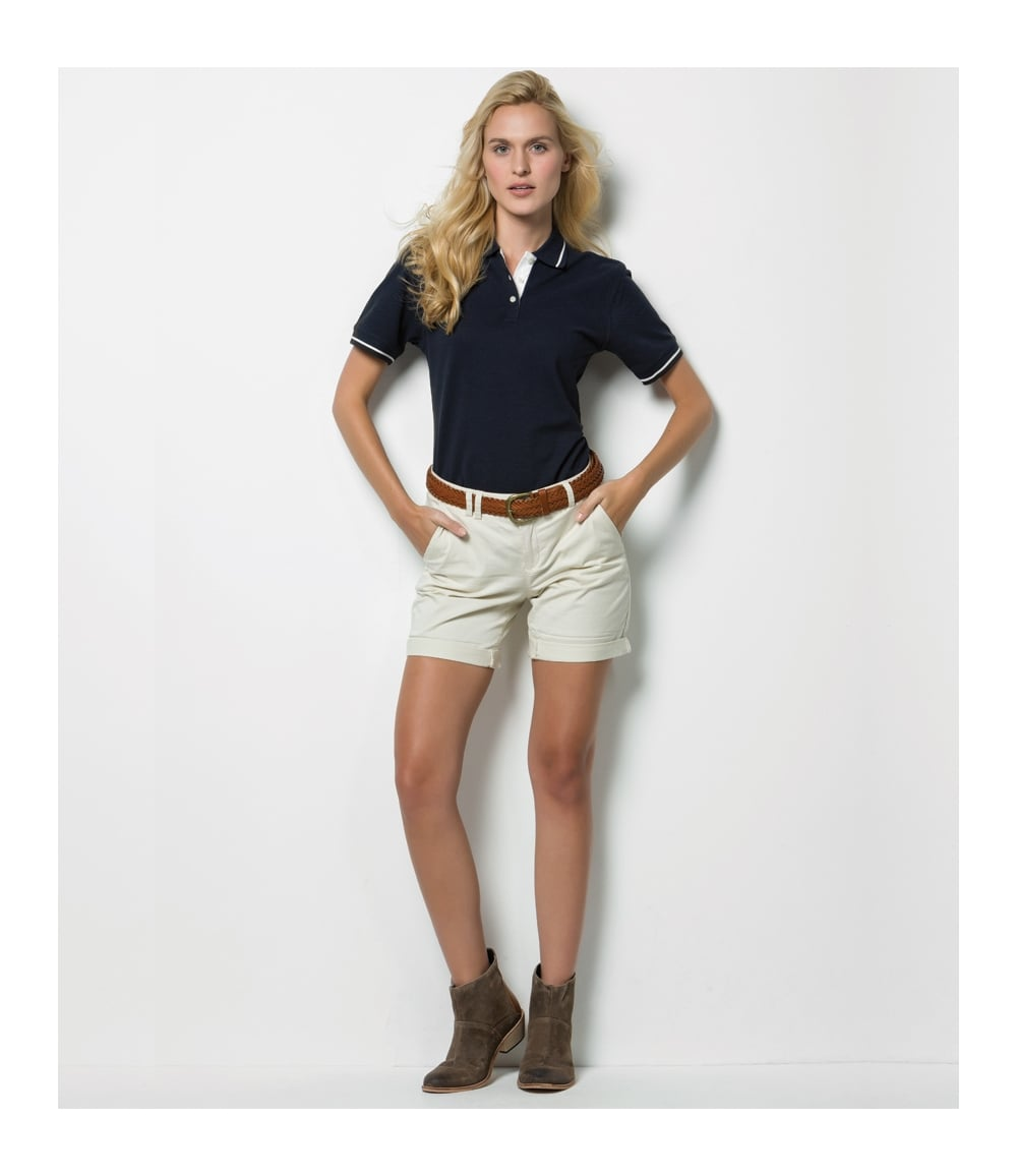 89d16833f Kustom Kit Ladies St Mellion Tipped Cotton Pique Polo Shirt - K706 ...