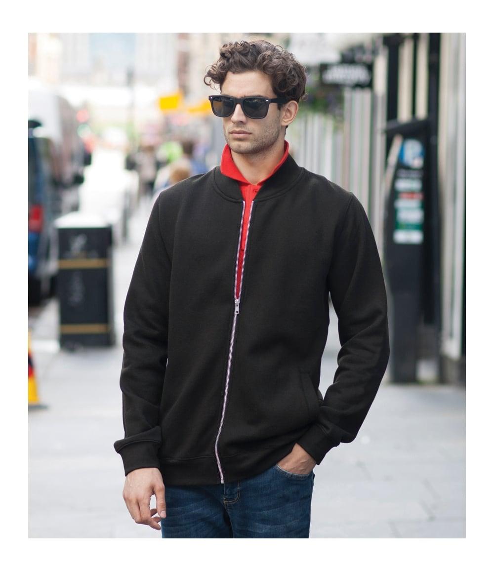SF Men Unisex Baseball Jacket with Detachable Hood